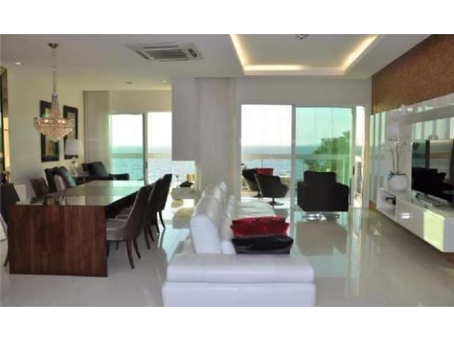 FRENTE MAR Cacupé-FLORIANÓPOLIS-BRAZIL-Lujuoso Apartamento Amueblado 3Suites
